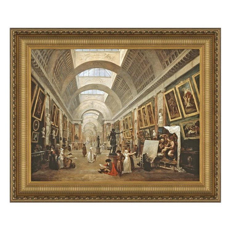 View larger image of Project for the Disposition of the Grand Gallery, 1796: Canvas Replica Painting