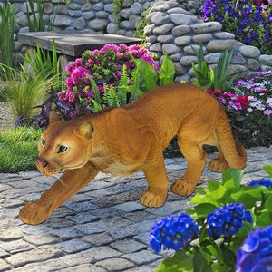 Prowling American Mountain Cougar Statue