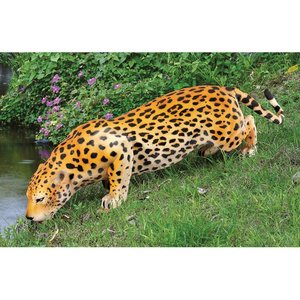 Prowling Spotted Leopard Statue