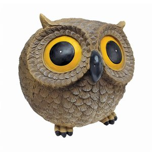 Puffy Roly Poly Garden Owl Statue