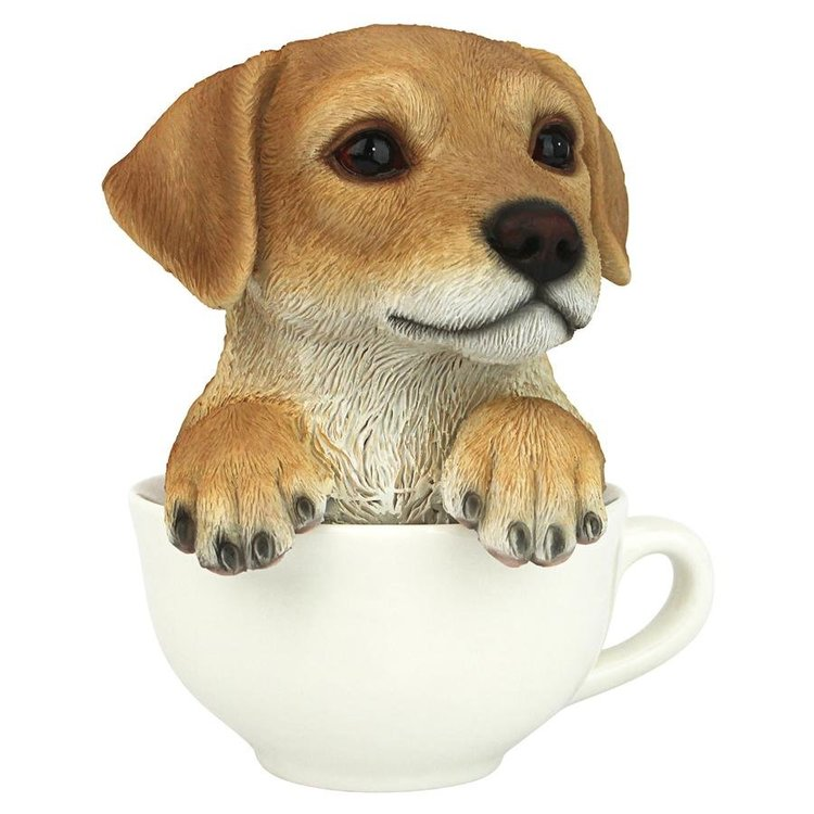 View larger image of Puppuccino Puppy Yellow Lab Collectible Dog Statue