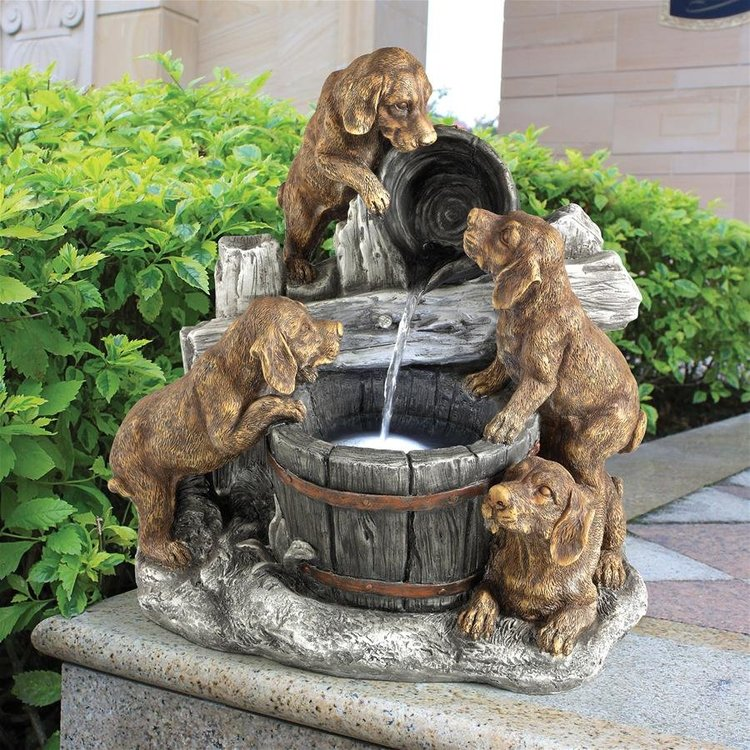View larger image of Puppy Pail Pour Dog Garden Fountain