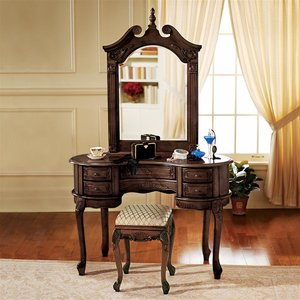 The Queen Anne Dressing Table and Mirror Set