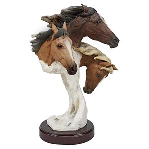 Racing the Wind Wild Horse Statue: Large