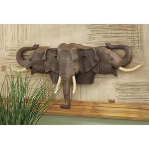 Raised Expectations Elephant Wall Sculpture