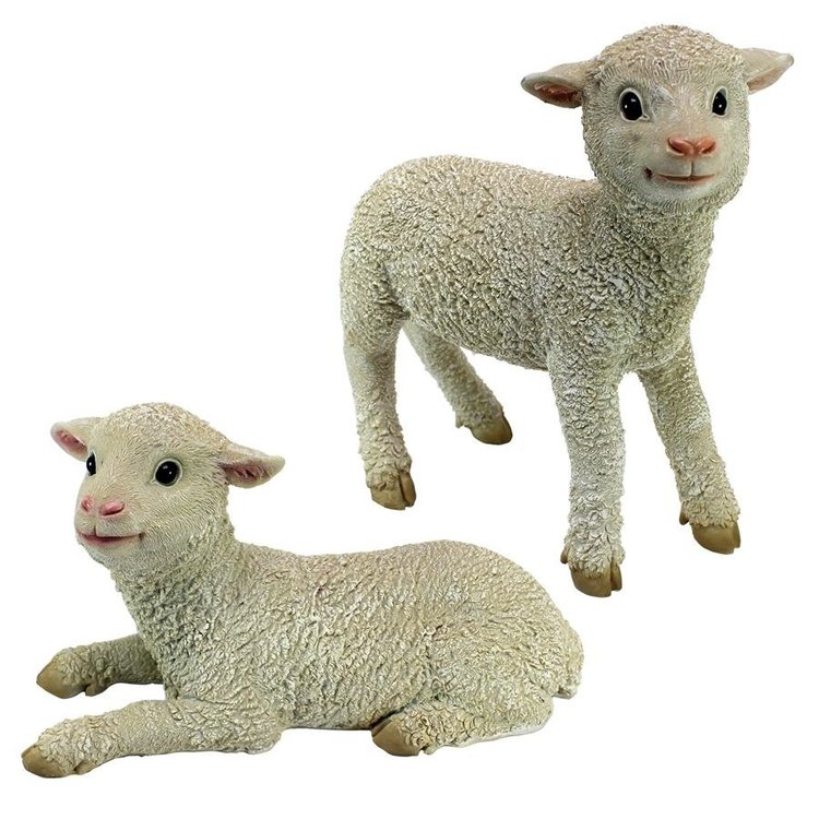 View larger image of Ramses and Aries Lamb Statues: Set of Two