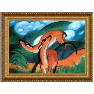 Red Deer II Canvas Replica Painting Small