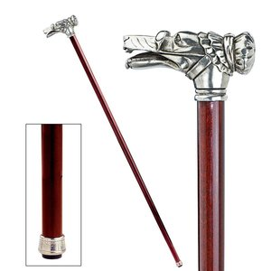 The Padrone Collection: Red Riding Hood Wolf Walking Stick