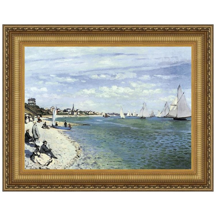 View larger image of Regatta at Sainte-Adresse, 1867: Canvas Replica Painting