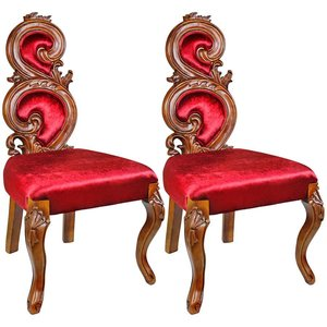 Renaissance Accent Chairs: Set of Two