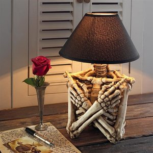 Rest in Pieces Gothic Skeleton Table Lamp