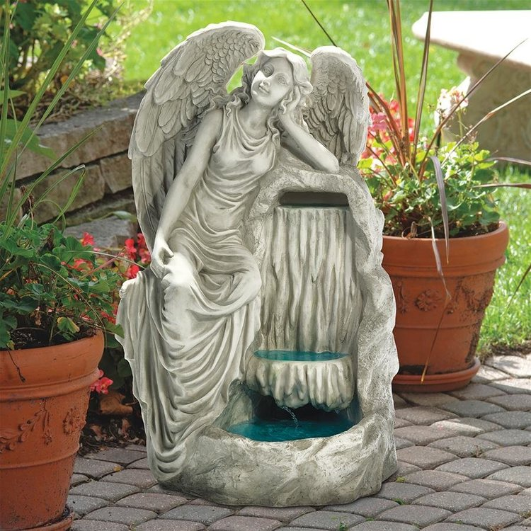 View larger image of Resting Grace Angel Garden Fountain