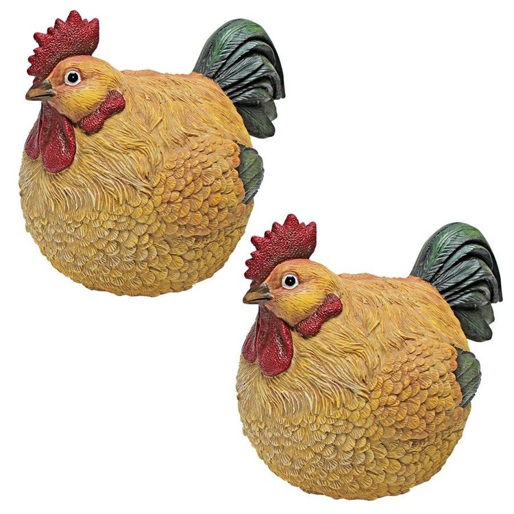 View larger image of Roly-Poly Ball of Chicken Statues: Set of Two