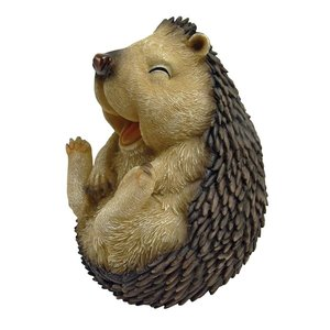 Roly-Poly Laughing Hedgehog Statue: Large