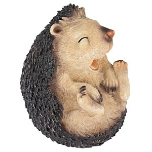 Roly-Poly Laughing Hedgehog Statue: Small