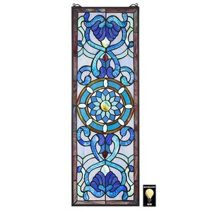 Roquebrun Tiffany-Style Stained Glass Window