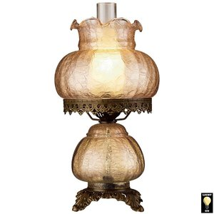 Rose Court Victorian-Style Hurricane Table Lamp