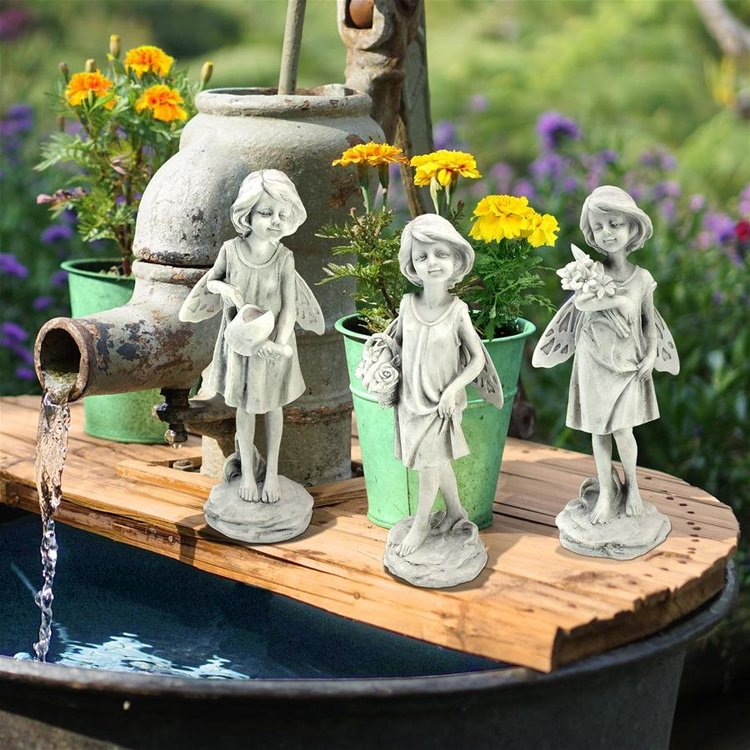 View larger image of Rose Garden Fairy Statues