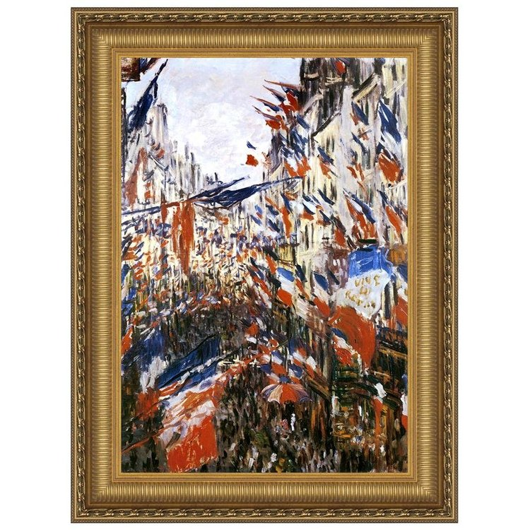 View larger image of The Rue Montorgueil in Paris, 1878: Canvas Replica Painting