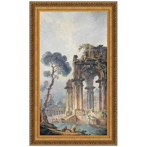 The Ruins Near The Water, 1779: Canvas Replica Painting: Large