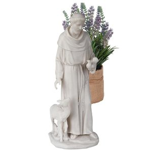 Saint Francis of Assisi, Patron Saint of Animals Marble Resin Statue