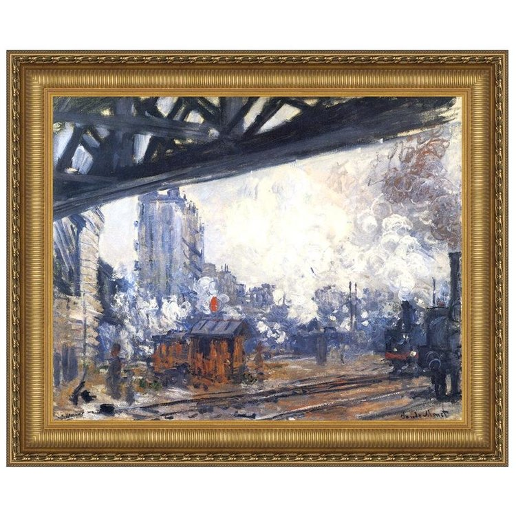 View larger image of Saint-Lazare Station, Exterior View, 1887: Canvas Replica Painting