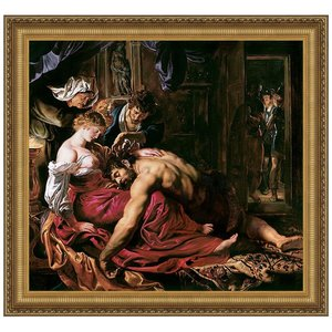 Samson and Delilah, 1610: Canvas Replica Painting: Large