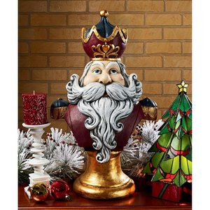 Santa Claus, King of the North Pole Oversized Holiday Statue