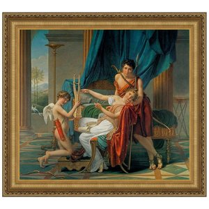 Sappho and Phaon, 1809: Canvas Replica Painting: Small