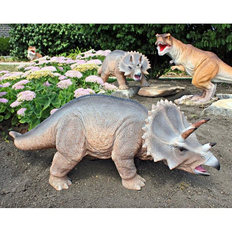 View larger image of Scaled Jurassic Triceratops Dinosaur Statue