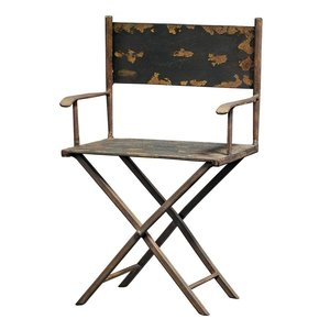 Scaled Metal Director's Chair Sculpture