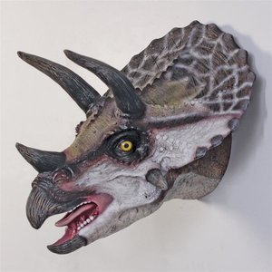 Scaled Triceratops Dinosaur Wall Trophy