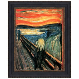 The Scream, 1893: Canvas Replica Painting: Small