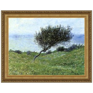 Seacoast at Trouville, 1881: Canvas Replica Painting: Large