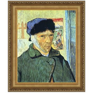 Self Portrait with Bandaged Ear, 1889: Canvas Replica Painting: Large