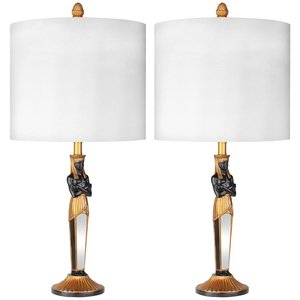 Servant to the Egyptian Pharaoh Table Lamp: Set of Two