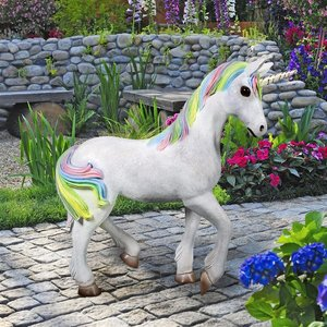 Shimmer the Mystical Magical Standing Unicorn Statue
