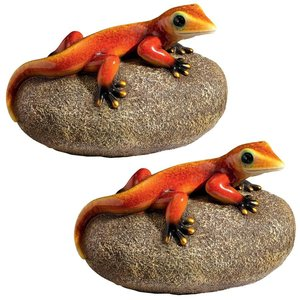 Show Your True Colors Gecko Statue: Set of Two