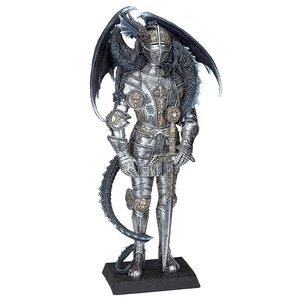 Sir Lancelot and the Gothic Dragon Statue