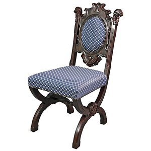 Sir Raleigh Hand-Carved Medieval Dining Chair: Each