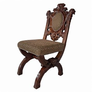 Sir Raleigh Hand-Carved Medieval Dining Chair