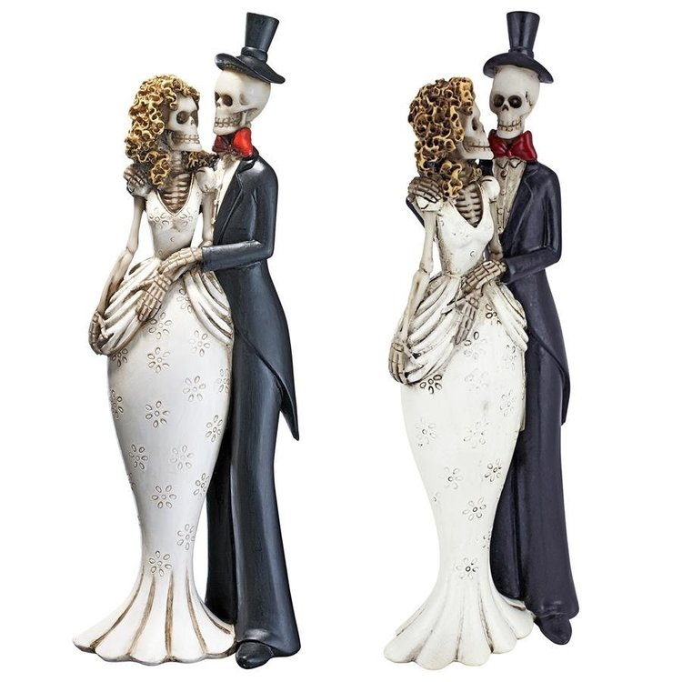View larger image of Skeleton Bride & Groom Statues: Set of Two
