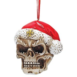 Skelly Claus II Holiday Skeleton Ornament: Set of Three