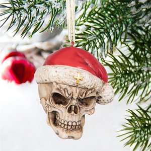 Skelly Claus II Holiday Skeleton Ornament