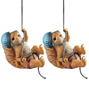 Skyler, the Climbing Squirrel Statues: Set of Two
