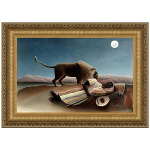 The Sleeping Gypsy, 1897: Canvas Replica Painting: Large