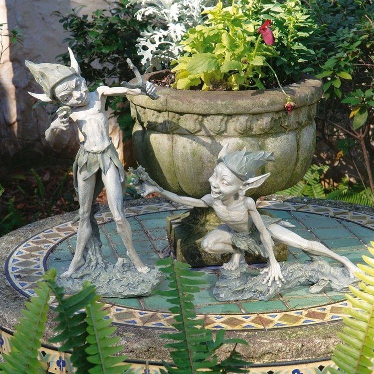 View larger image of Sling & Stretch Garden Pixie Sculptures: Set of 2