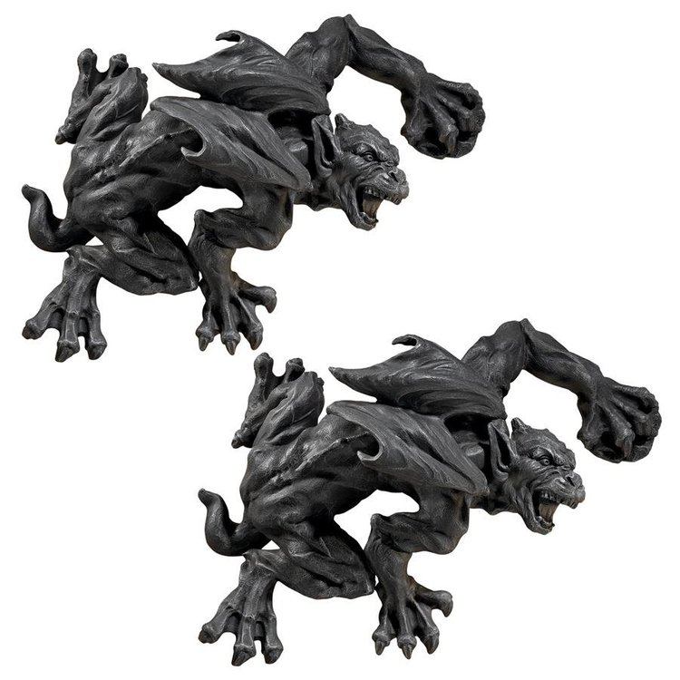 View larger image of Slither and Squirm Gargoyle Wall Sculpture: Set of Two