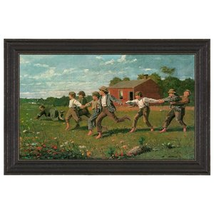 Snap the Whip, 1872: Canvas Replica Painting: Medium