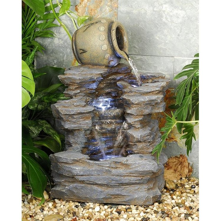 View larger image of Spilling Jug Cascading Garden Fountain